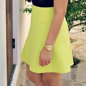 Yellow Jcrew skirt size 00